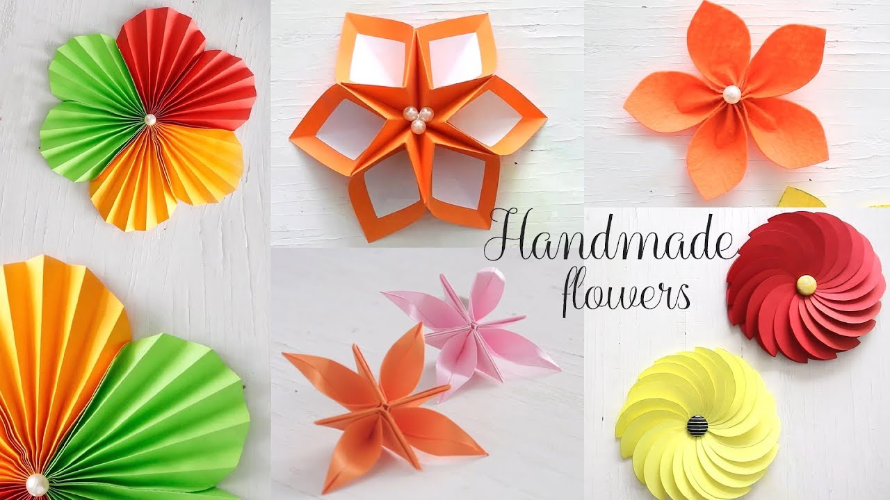 Paper Flower Making In Simple Steps K4 Craft