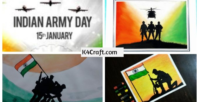 National Army Day Step By Step Drawing For Kids Beginners K4 Craft