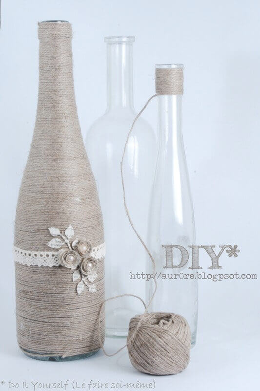 Yarn vase DIY
